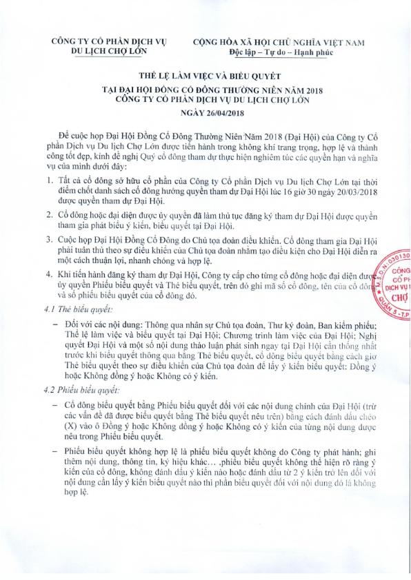 The le lam viec va bieu quyet tai DHCD thuong nien nam 2018_001